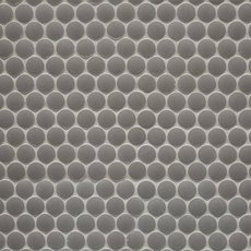 Unglazed Light Gray Penny Porcelain Mosaic