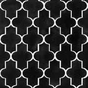 Jet Black Basalt Arabesque Limestone Mosaic