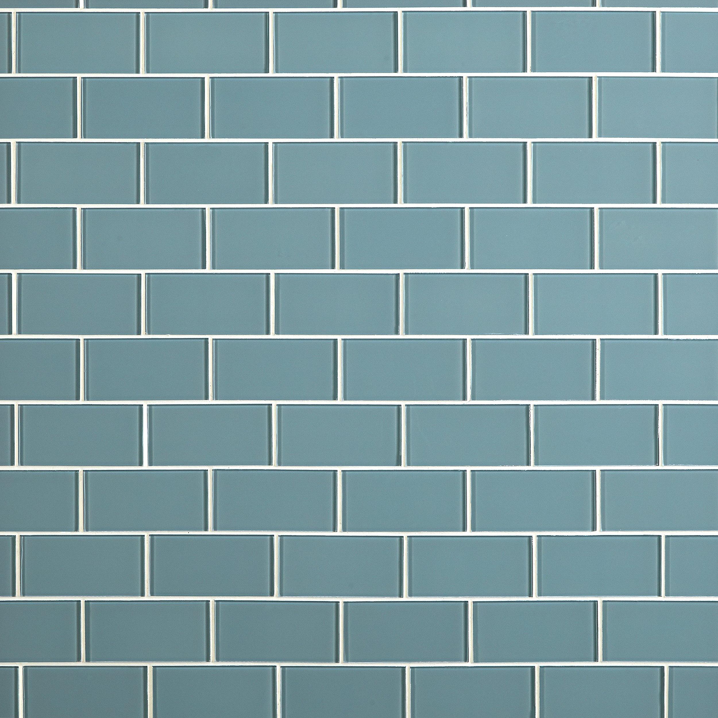 Spa Glass Tile - 3 x 6 - 913102050   Floor and Decor