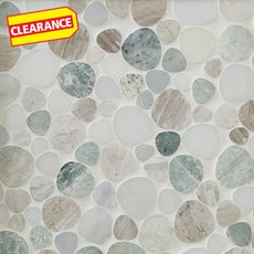 Clearance! Paradise Pebblestone Marble Mosaic