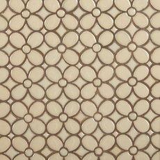 Umber Flora Polished Porcelain Mosaic