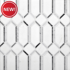 New! Thassos Gateways Polished Marble Mosaic