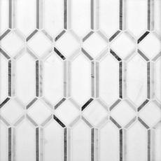 Thassos Gateways Polished Marble Mosaic