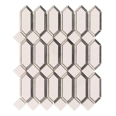 Viviano Carrara Thassos Gateways Polished Marble Mosaic