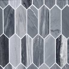 Palissandro Dark Picket Polished Marble Mosaic
