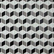 Modern Tangent Glass Mosaic