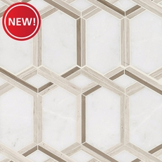 New! Tempest Valentino Water Jet Polished Marble Mosaic