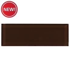 New! Pure Coffee Glass Tile