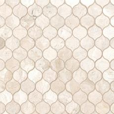 Crema Royal Crest Polished Marble Mosaic