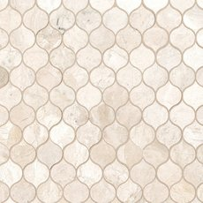 Crema Royal Crest Polished Marble Mosaic