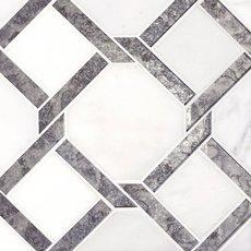 Seville Carrara White Waterjet Marble Mosaic