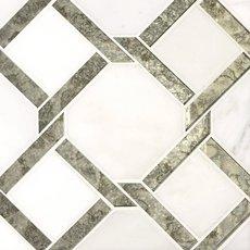 Seville Carrara White Waterjet Marble Mosiac