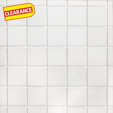 Clearance! Thassos Square Honed Marble Mosaic