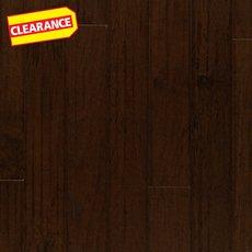 Clearance! Hickory Espresso Handscraped Engineered Hardwood