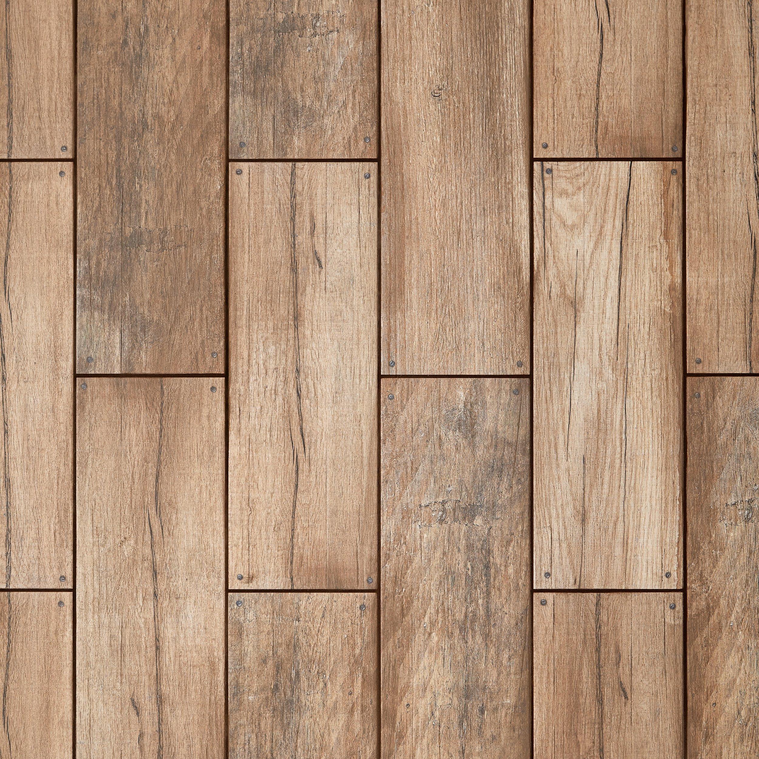 Saman Roble Wood Plank Ceramic Tile 7 X 20 100085455 Floor And