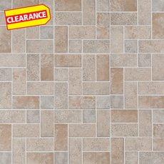 Clearance! Brick Modular Gray Vinyl Tile