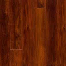 Mahogany High Gloss Rigid Core Luxury Vinyl Plank-Cork Back