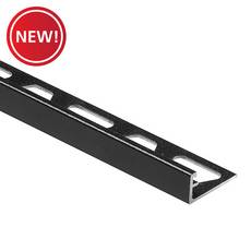 New! Schluter Jolly Edge Trim 3/8in. Aluminum Matte Black