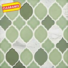 Clearance! Vine Lantern Porcelain Glass and Marble Mosaic