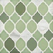 Vine Lantern Porcelain Glass and Marble Mosaic