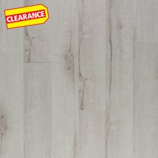 Clearance! Alabaster Smooth Groutable Self-Stick Luxury Vinyl Plank