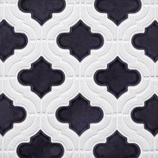 Mystic Linen Arabesque Porcelain Mosaic