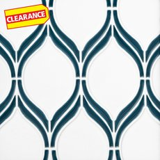 Clearance! Baja Frame Tear Porcelain Mosaic