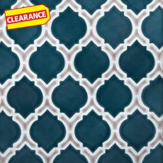 Clearance! Mystic Pewter Marakesh Porcelain Mosaic