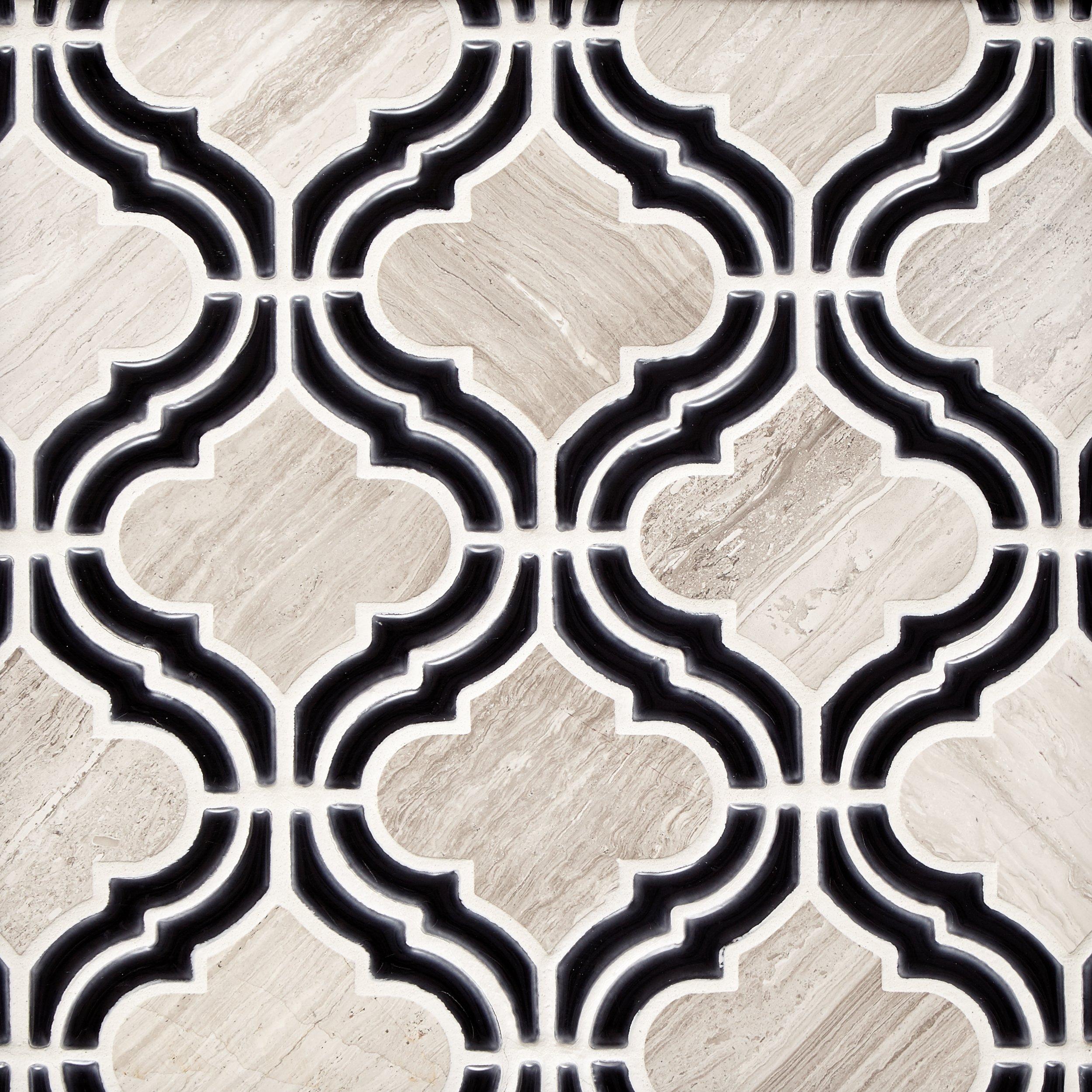 Mystic Valentino Arabesque Marble Mosaic - 11 x 10 - 100500289 | Floor and  Decor