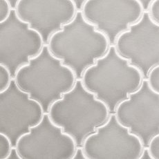 Heirloom Pewter Arabesque Porcelain Mosaic