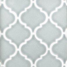 Heirloom Aqua Arabesque Porcelain Mosaic