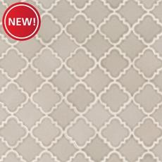 New! Pewter Alimos Polished Porcelain Mosaic