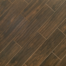 Burton Walnut Wood Plank Porcelain Tile 6 X 24