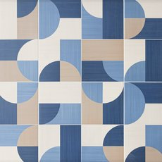 Moon Decorative Blue Porcelain Tile