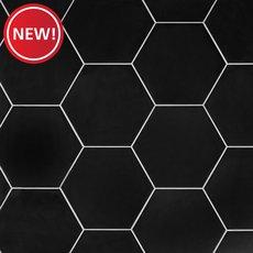 New! Opal Black Hexagon Porcelain Tile