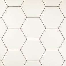 opal white hexagon porcelain tile - 11 x 13 - 100505379