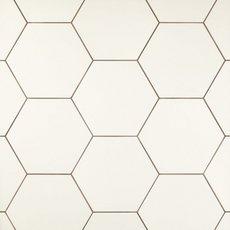 Opal White Hexagon Porcelain Tile