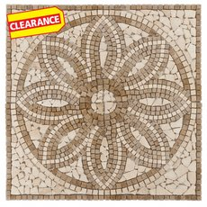 Clearance! Florentine Tumbled Travertine Medallion