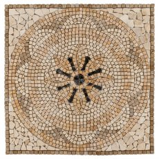 Palazzo Tumbled Travertine Medallion