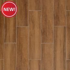 New! Carson Walnut Wood Plank Ceramic Tile