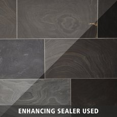 Black Honed Slate Tile