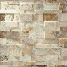 Storm Brushed Travertine Panel Ledger