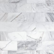 Ocean White Polished Marble Tile