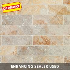 Clearance! Valencia Brushed Travertine Mosaic