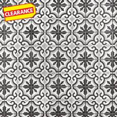 Clearance! Equilibrio Black Encaustic Cement Tile