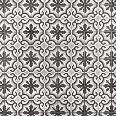 Equilibrio Black Encaustic Cement Tile