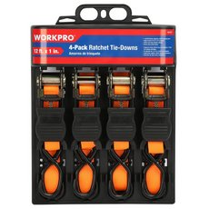 Work Pro Ratchet Tie-Down - 4pk.