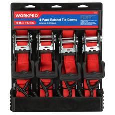 Work Pro Ratchet Tie-Down - 4pk.
