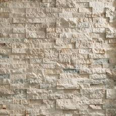 Roman Beige Splitface Travertine Panel Ledger