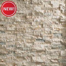 New! Roman Beige Splitface Travertine Panel Ledger